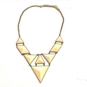 ALDO Geometric White Gold necklace